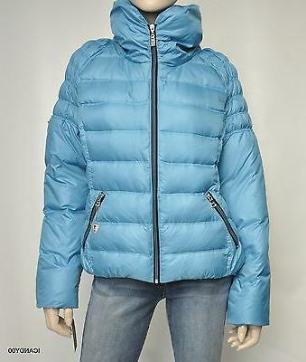 Nwt Guess Snow Jacket Down Parka ~Turquoise