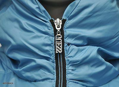 Nwt $200 Snow Puffer Zip Jacket Down Coat ~Turquoise
