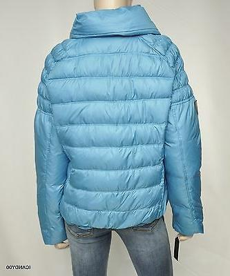Nwt $200 Guess Winter Snow Puffer Down Parka Top ~Turquoise *XL