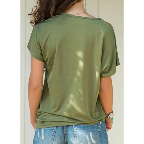 Summer Women Sleeve Size Plus T Solid Casual Tops