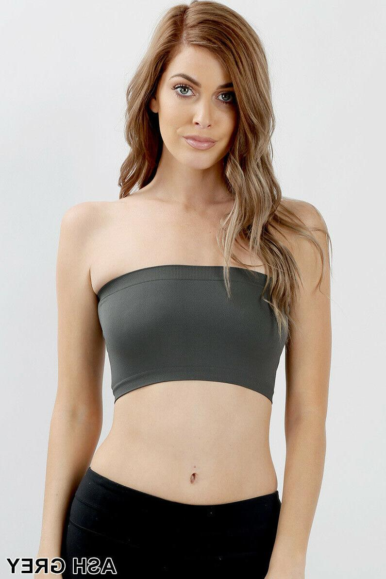 Tube Bandeau Strapless Bralette Stretch Layering