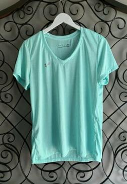 NEW WOMENS UNDER ARMOUR HEAT GEAR LOOSE FIT V-NECK T-SHIRT S