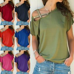 Summer Women Short Sleeve Size Plus T Shirt  Solid Loose Cas
