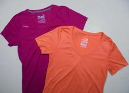 Two Womens NIKE T-shirts sz SM - ORANGE & PINK Casual Active